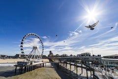 DE Pier in Scheveningen Stock Afbeelding