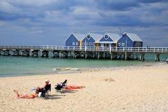De Pier van Busselton, Westelijk Australië. stock fotografie