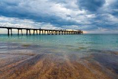 De Pier van de Largsbaai, Zuid-Australië Royalty-vrije Stock Foto's