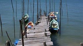 De pier van de visser Royalty-vrije Stock Afbeeldingen