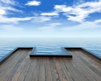 De pier van het ponton royalty-vrije illustratie
