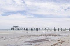 De pier van het Yorkeschiereiland stock afbeeldingen