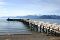 De Pier van Nieuw Zeeland Stock Foto