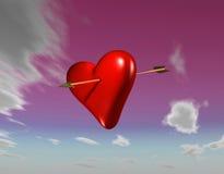 De Pijl van Amors in Roze Stock Afbeeldingen
