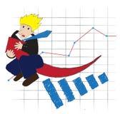 De pijl van de bedrijfsmensenrit van winst Stock Foto