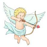 De pijl van de Cupido Stock Foto's