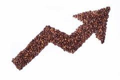 De pijl van de koffie Stock Fotografie