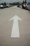 De Pijl van het parkeerterrein Stock Foto's