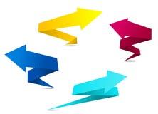 De pijlbanners van de origami Stock Foto