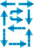 De pijlen plaatsen 2 Royalty-vrije Stock Afbeeldingen