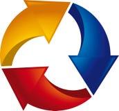 De pijlen van de cyclus Stock Fotografie