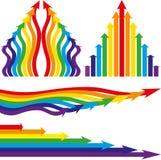 De pijlen van de regenboog Stock Fotografie