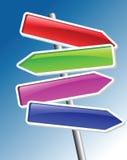De pijlen van de richting royalty-vrije illustratie
