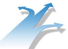 De Pijlen van de richting Royalty-vrije Stock Afbeeldingen