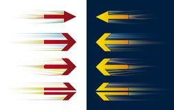De pijlen van de snelheid (vector) stock illustratie