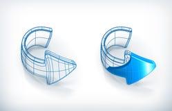De pijlen van de tekening Stock Afbeelding