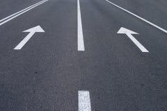 De pijlen van de weg Stock Foto