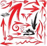 De pijlen van Grunge Stock Fotografie