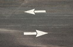 De Pijlen van het parkeerterrein Stock Foto's
