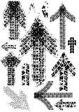 De pijlen van het spoor stock illustratie