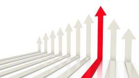 De pijlen van het succesconcept Royalty-vrije Stock Afbeelding