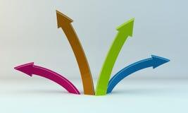 De Pijlen van kleuren Stock Foto