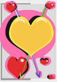 De pijlen van liefde Royalty-vrije Stock Afbeeldingen