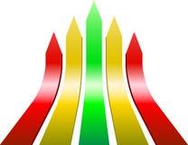 De pijlen van Varicolored stock illustratie