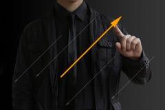 De pijlen van zakenmanlood in verschillende richtingen Royalty-vrije Stock Afbeeldingen