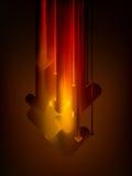De pijlenbeweging van de grafiek neer in gloedkleur. EPS 8 Stock Afbeeldingen