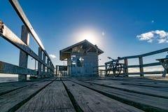 De pijler bij zonsopgang royalty-vrije stock afbeelding