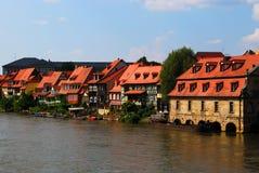 De pijler en de dijk van Bamberg Stock Afbeelding