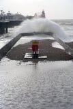 De pijler en het strand van Brighton. Royalty-vrije Stock Afbeelding
