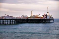 De Pijler van Brighton in de avond royalty-vrije stock afbeeldingen