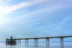 De Pijler van Clevedon Stock Foto