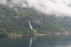 De pijler van de fjordwaterval Royalty-vrije Stock Foto's