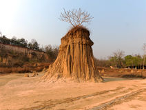 De pijler van de grond wordt genoemd `-Saodin Na Noi ` Stock Afbeeldingen