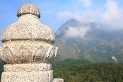 De pijler van de steen in Boedha in Hongkong Royalty-vrije Stock Foto's