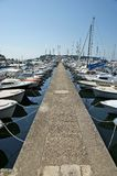 De pijler van de STEEN voor boten en jachten, Stock Afbeeldingen