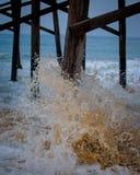 De Pijler van de strandscène Stock Foto