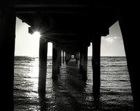 De pijler van de zonsondergang Stock Foto