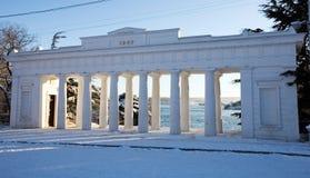 De Pijler van Grafskaya in Sebastopol stock afbeelding