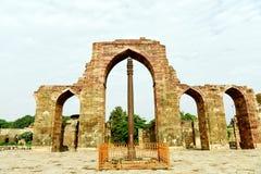 De Pijler van het ijzer van Delhi Stock Afbeelding