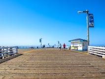 De Pijler van het Pismostrand in Californië stock foto