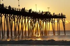 De Pijler van het Strand van Kure Stock Foto's