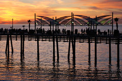 De Pijler van het Strand van Redondo Stock Afbeelding