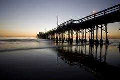 De pijler van New Port Beach Stock Afbeelding