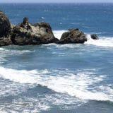 De pijler van santamonica in Californië stock foto's