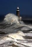 De Pijler van Tynemouth Stock Afbeeldingen