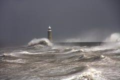 De Pijler van Tynemouth stock foto's